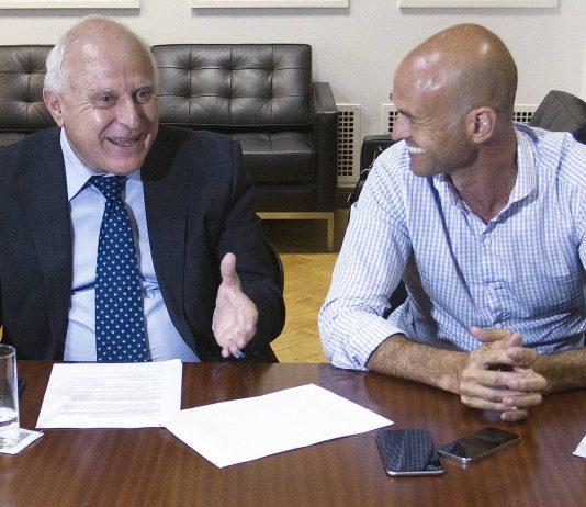 Miguel Lifschitz y Guillermo Dietrich, en un encuentro pasado en Casa Rosada