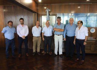 Alfredo Hugo Palacio, secretario general de URGARA, junto a Jorge Metz, Subsecretario de Puertos y Vías Navegables