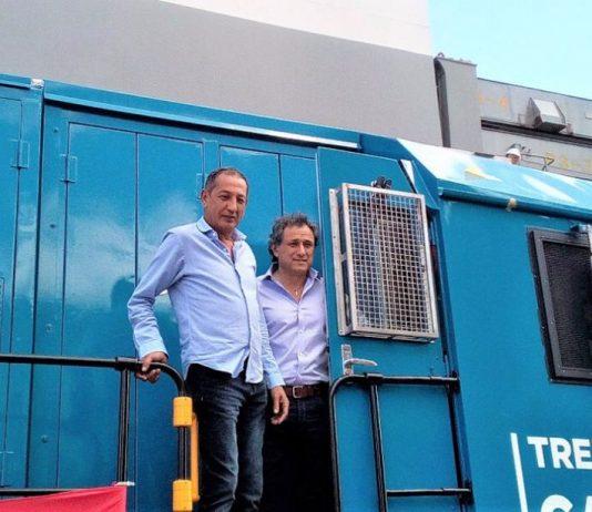 Omar Maturano (La Fraternidad) y Sergio Sasia (Unión Ferroviaria)