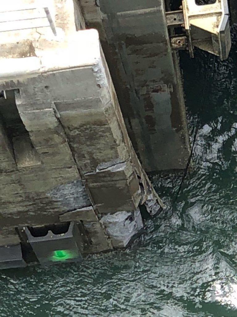 Muro próximo a las Esclusas de Agua clara del Canal de Panamá
