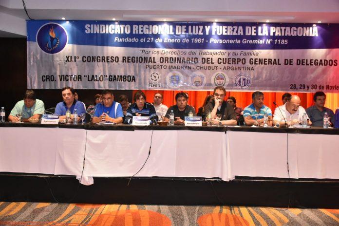El Sindicato Regional de Luz y Fuerza de la Patagonia reunido en el 41º Congreso ordinario