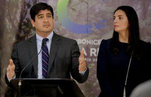 Carlos Alvarado, Presidente de Costa Rica junto a Andrea Centeno, Presidenta de JAPDEVA
