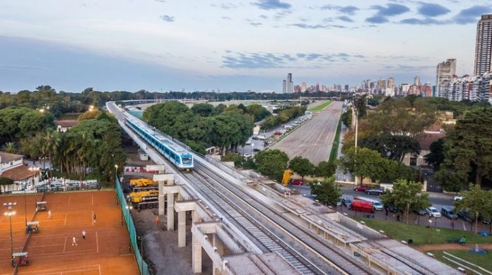 Viaducto Mitre desde un drone (Prensa: GCBA)