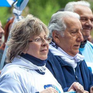 Graciela Aleñá, Secretaria General de STVyARA junto a César Gonzalez, Secretario Adjunto