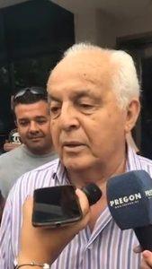 Herme Juarez esta mañana siendo entrevistado por los medios
