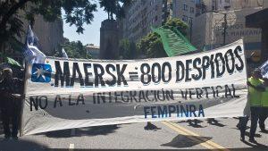 Alrededor de 300 agremiados marcharon al Ministerio de Producción y Trabajo (Foto: FeMPINRA)