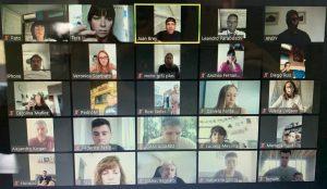 Reunión de los integrantes de la CD Aeronavegantes por intermedio de la plataforma zoom