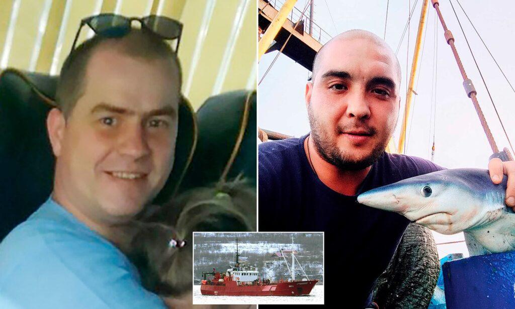 Los dos sobrevivientes del hundimiento del Onega ruso (Foto: DailyMail)